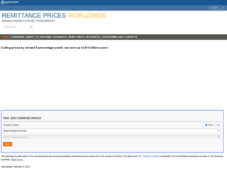 remittanceprices.worldbank.org screenshot