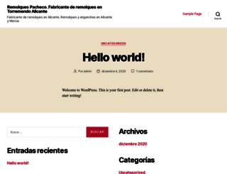 remolquespacheco.com screenshot