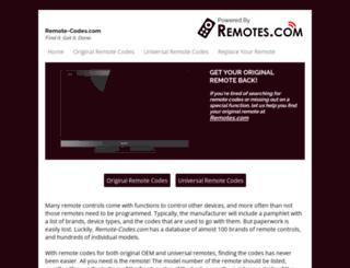 remote-codes.com screenshot