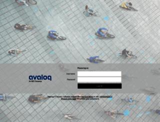 remote.avaloq.com screenshot
