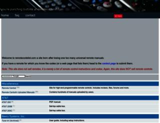 remotecodelist.com screenshot