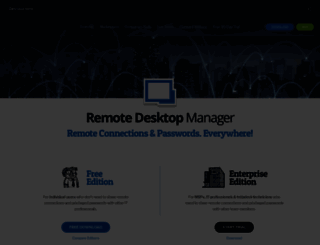 remotedesktopmanager.com screenshot
