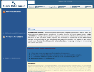 remoteglobalsupport.com screenshot