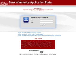 remotepc-emea.bankofamerica.com screenshot