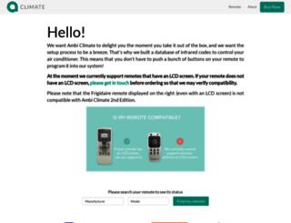 remotes.ambiclimate.com screenshot