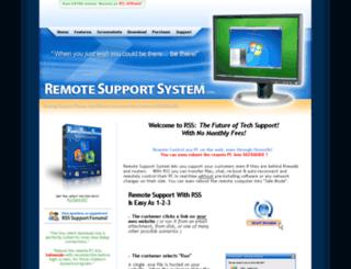 remotesupportsystem.com screenshot