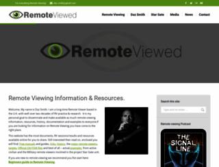 remoteviewed.com screenshot