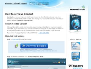 removeconduitsearch.com screenshot