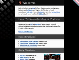 remysharp.com screenshot