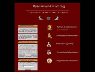 renaissance-france.org screenshot