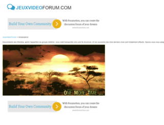 renaissance.jeuxvideoforum.com screenshot