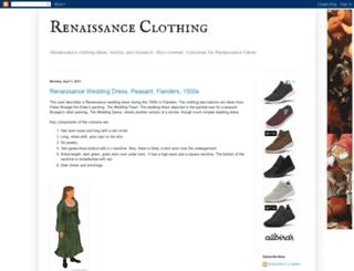renaissanceclothing.blogspot.com screenshot