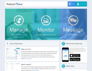 renalpatientview.org screenshot