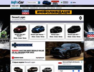 renault-logan.infocar.ua screenshot