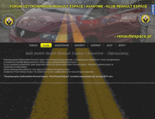 renaultespace.pl screenshot