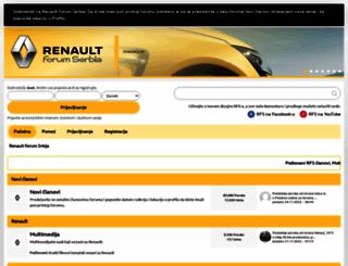 renaultforumserbia.com screenshot