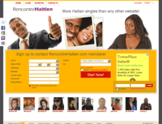 rencontrehaitien.com screenshot
