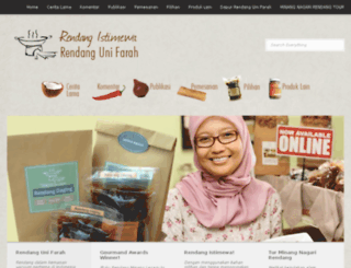 rendangunifarah.com screenshot