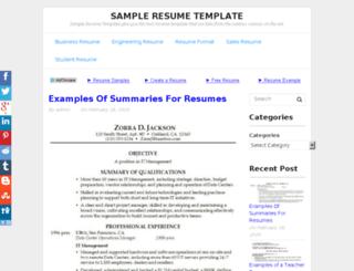 reneeresumes.com screenshot
