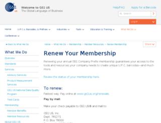 renewal.gs1us.org screenshot