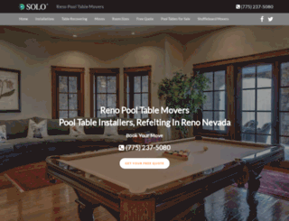 renopooltablemovers.com screenshot