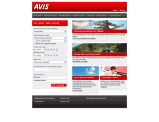 rent-at-avis.com screenshot