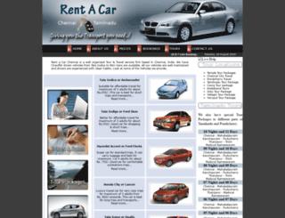 rentacarchennai.com screenshot