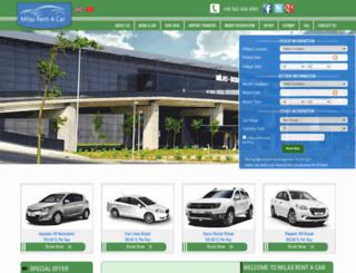 rentacarmilas.com screenshot