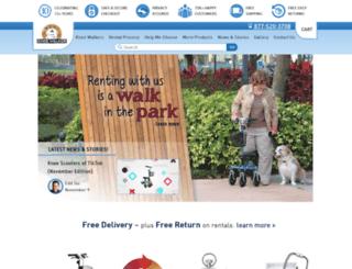 rentakneewalker.com screenshot