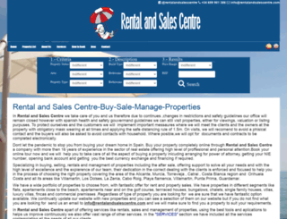 rentalandsalescentre.com screenshot