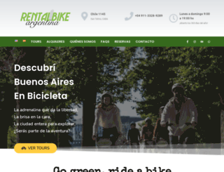 rentalbikeargentina.com screenshot