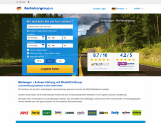 rentalcargroup.de screenshot