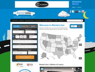 rentalimo.com screenshot