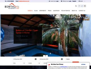 rentalinrome.com screenshot