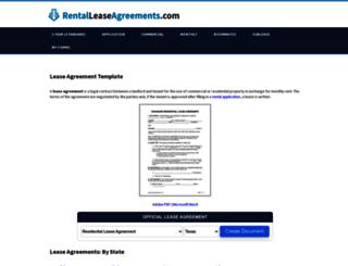 rentalleaseagreement.com screenshot