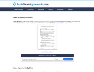 rentalleaseagreement.org screenshot