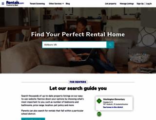 rentals.com screenshot