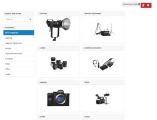 rentals.pictureline.com screenshot