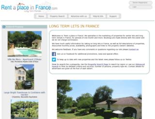 rentaplaceinfrance.com screenshot