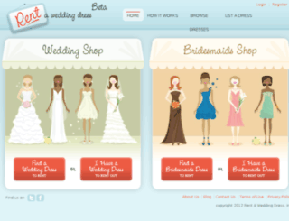 rentaweddingdress.com screenshot