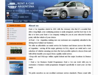 rentcarargentina.com screenshot