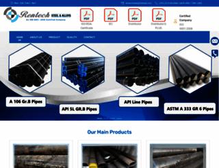 rentechsteel.com screenshot