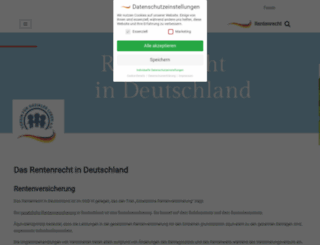 renten-recht.org screenshot