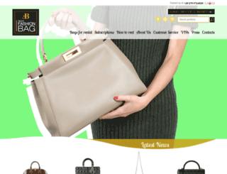 rentfashionbag.com screenshot