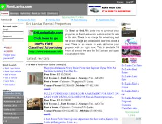 rentlanka.com screenshot