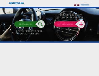 rentmycar.no screenshot