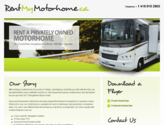 rentmymotorhome.ca screenshot