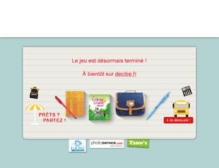 rentree.decitre.fr screenshot