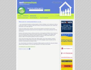 rentsomewhere.co.uk screenshot