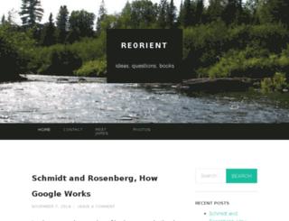 reorienting.wordpress.com screenshot